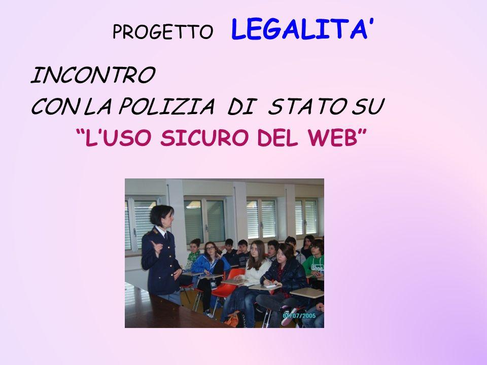 INCONTRO CON LA POLIZIA DI STATO SU L'USO SICURO DEL WEB