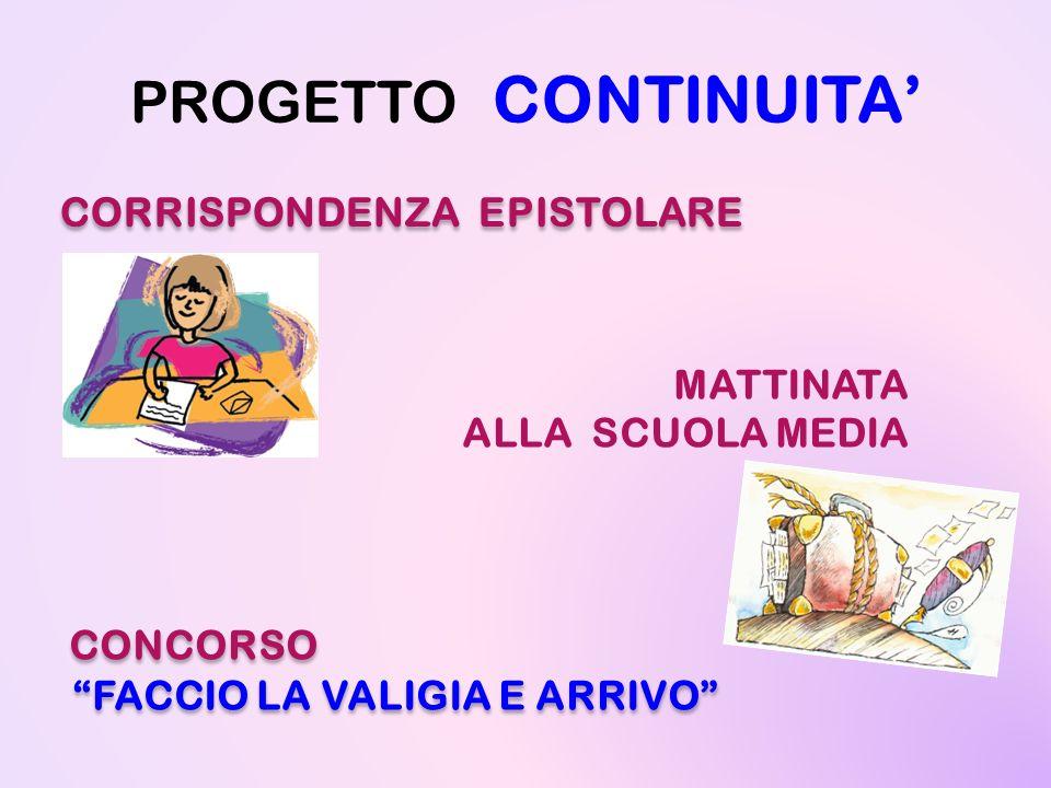 PROGETTO CONTINUITA' CORRISPONDENZA EPISTOLARE MATTINATA
