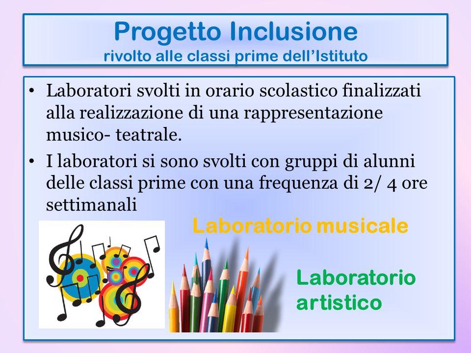 Progetto Inclusione rivolto alle classi prime dell'Istituto