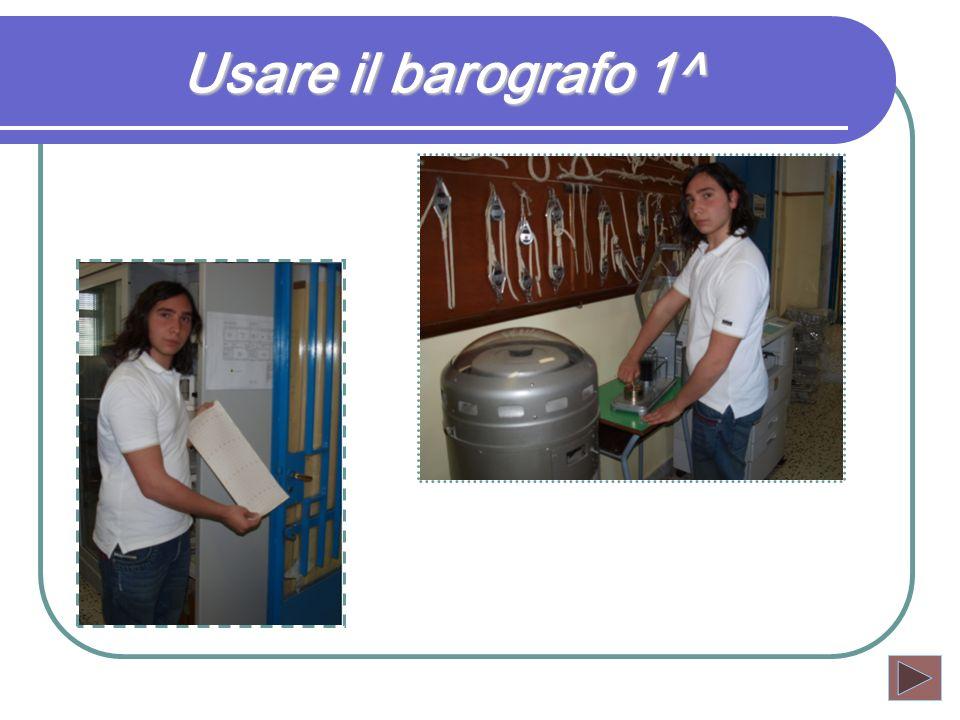 Usare il barografo 1^