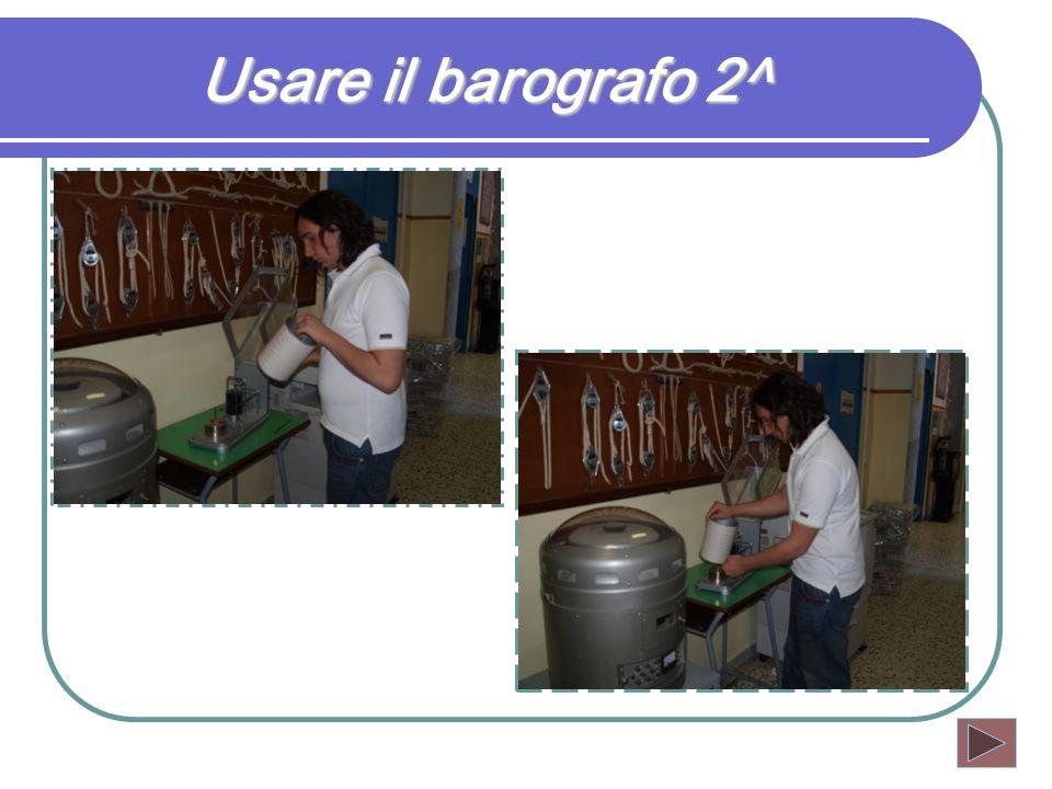 Usare il barografo 2^