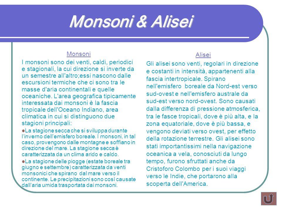 Monsoni & Alisei Monsoni