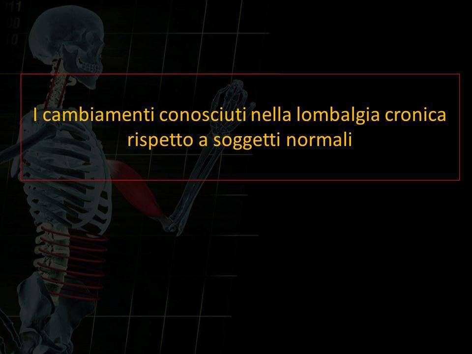 I cambiamenti conosciuti nella lombalgia cronica
