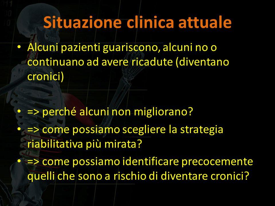 Situazione clinica attuale