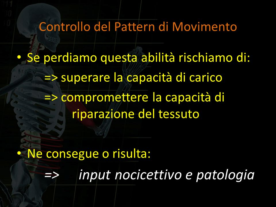 Controllo del Pattern di Movimento