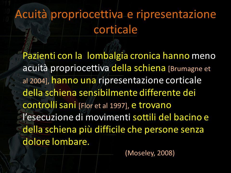 Acuità propriocettiva e ripresentazione corticale