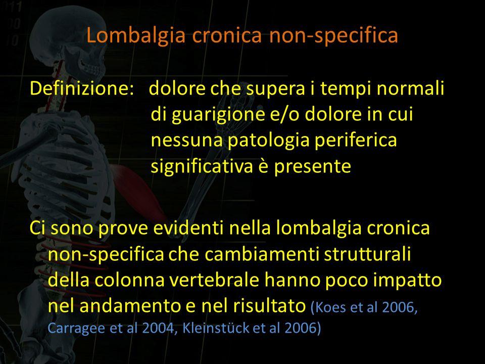 Lombalgia cronica non-specifica