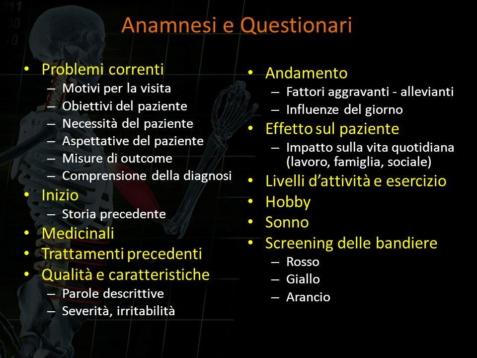 Anamnesi e Questionari