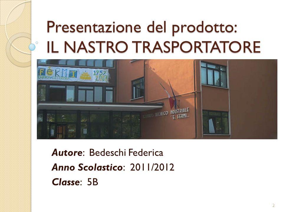 Presentazione del prodotto: IL NASTRO TRASPORTATORE