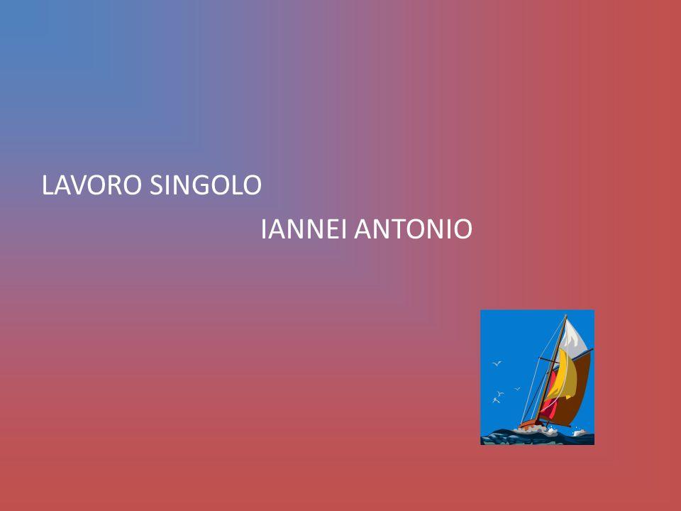 LAVORO SINGOLO IANNEI ANTONIO