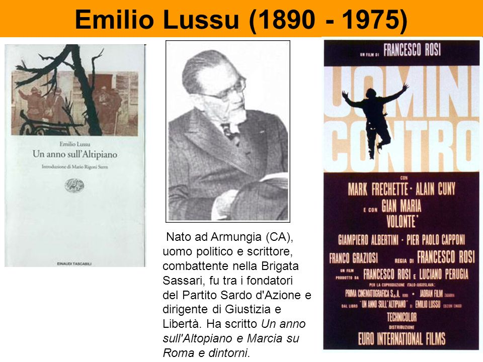 Emilio Lussu (1890 - 1975)