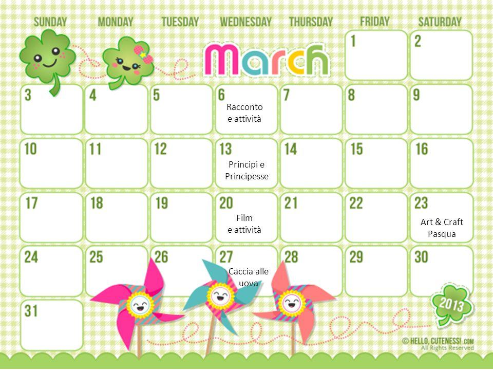 Racconto e attività Principi e Principesse Film e attività Art & Craft Pasqua Caccia alle uova