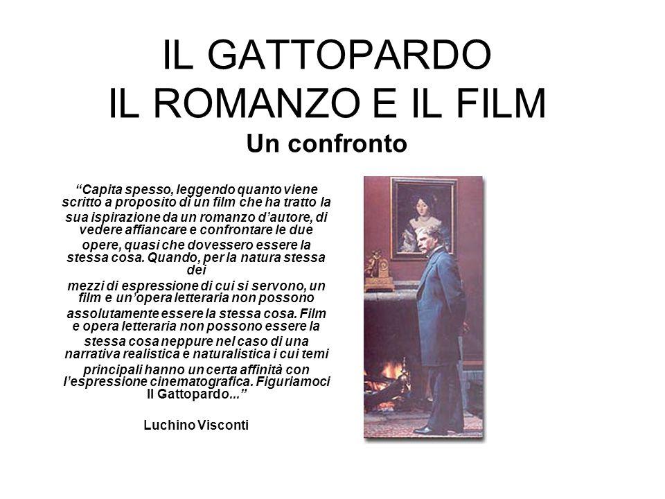 IL GATTOPARDO IL ROMANZO E IL FILM Un confronto