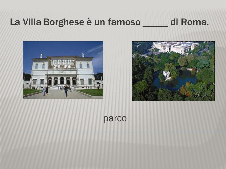 La Villa Borghese è un famoso _____ di Roma.