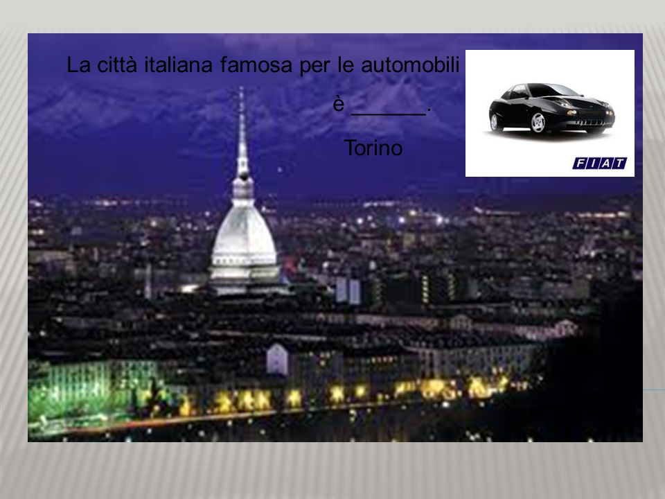 La città italiana famosa per le automobili