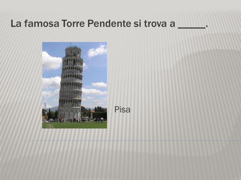 La famosa Torre Pendente si trova a _____.