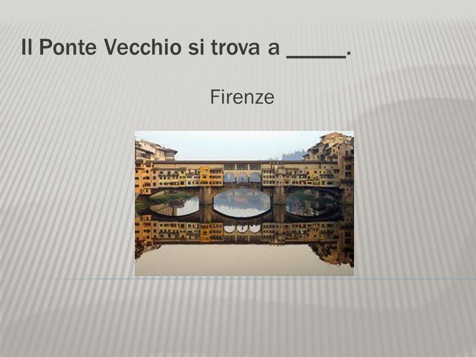 Il Ponte Vecchio si trova a _____.