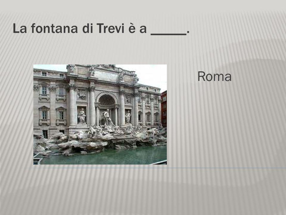 La fontana di Trevi è a _____.