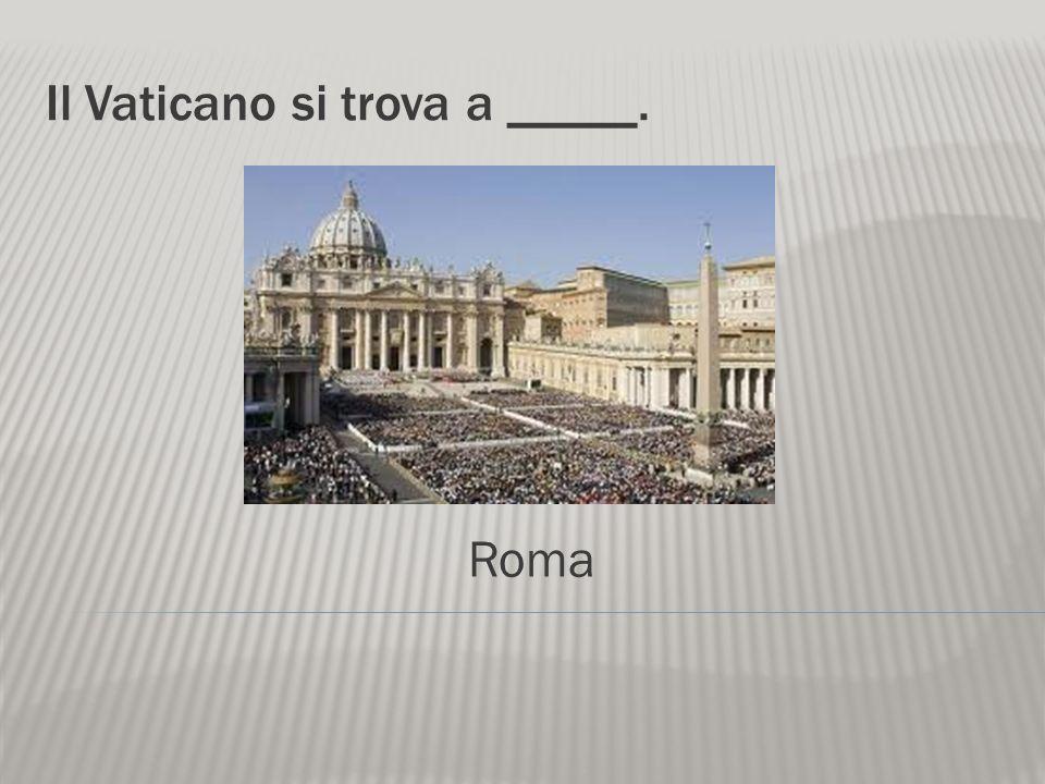 Il Vaticano si trova a _____.
