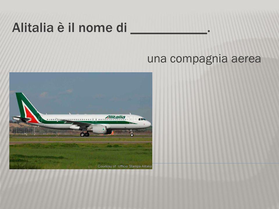 Alitalia è il nome di ___________.