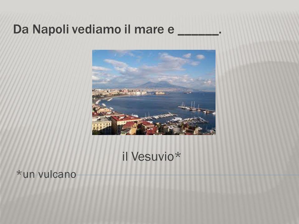 Da Napoli vediamo il mare e ______.