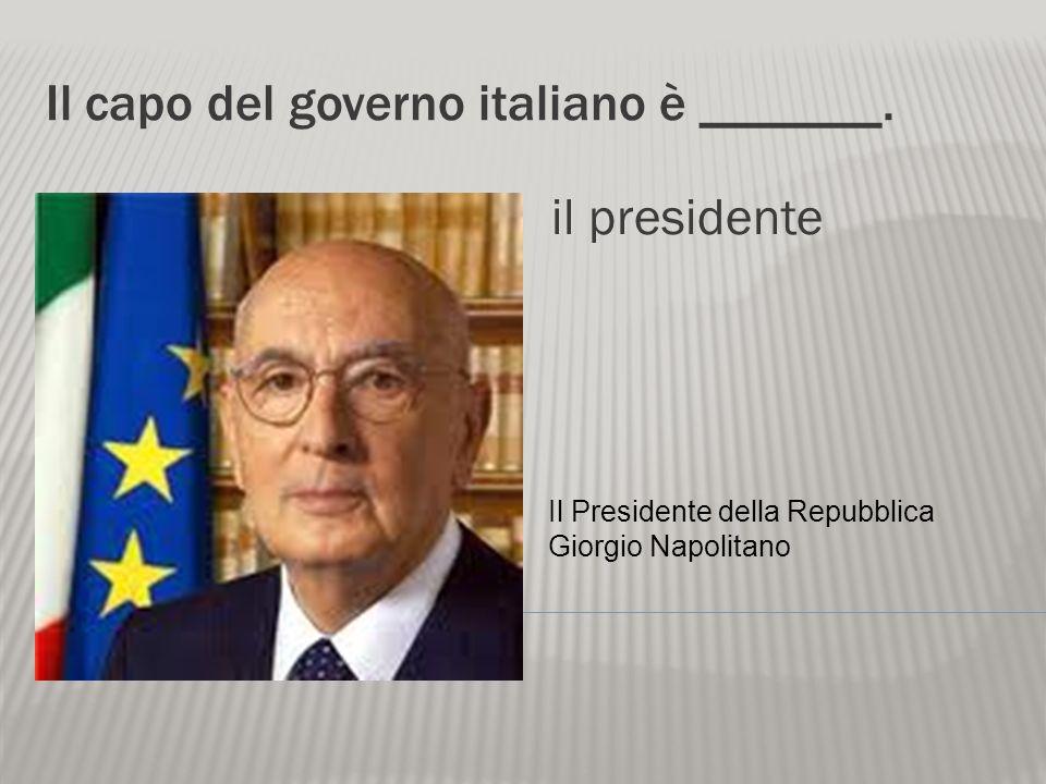 Il capo del governo italiano è _______.