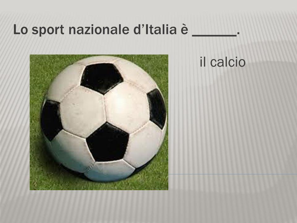 Lo sport nazionale d'Italia è ______.