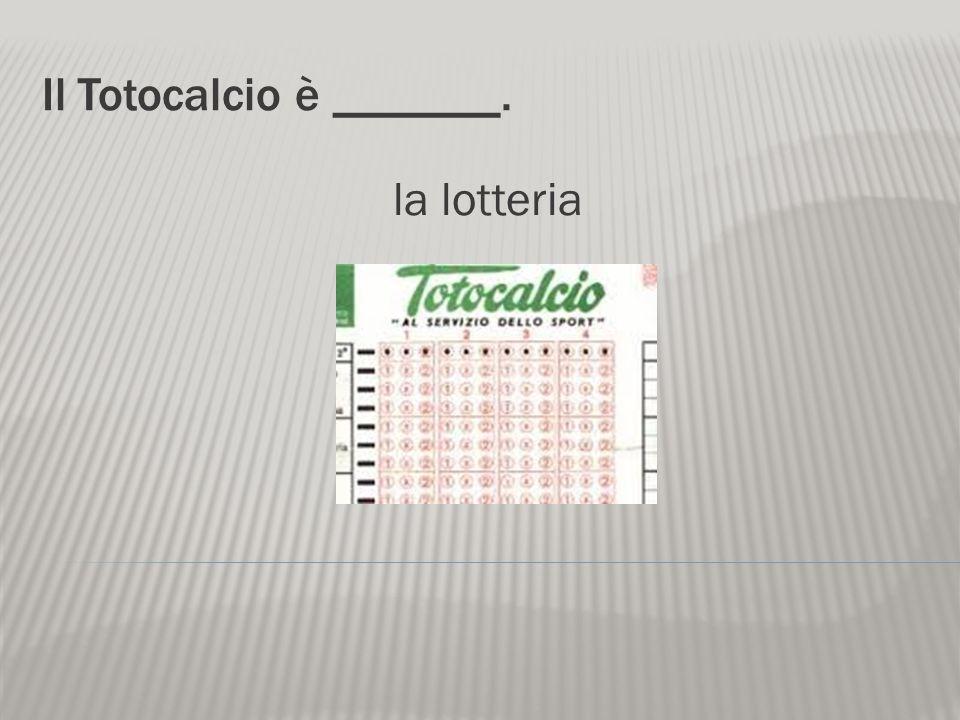 Il Totocalcio è _______.