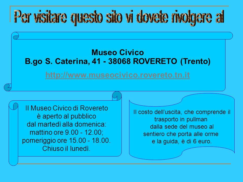 Museo Civico B.go S. Caterina, 41 - 38068 ROVERETO (Trento)