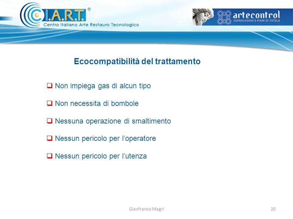 Ecocompatibilità del trattamento