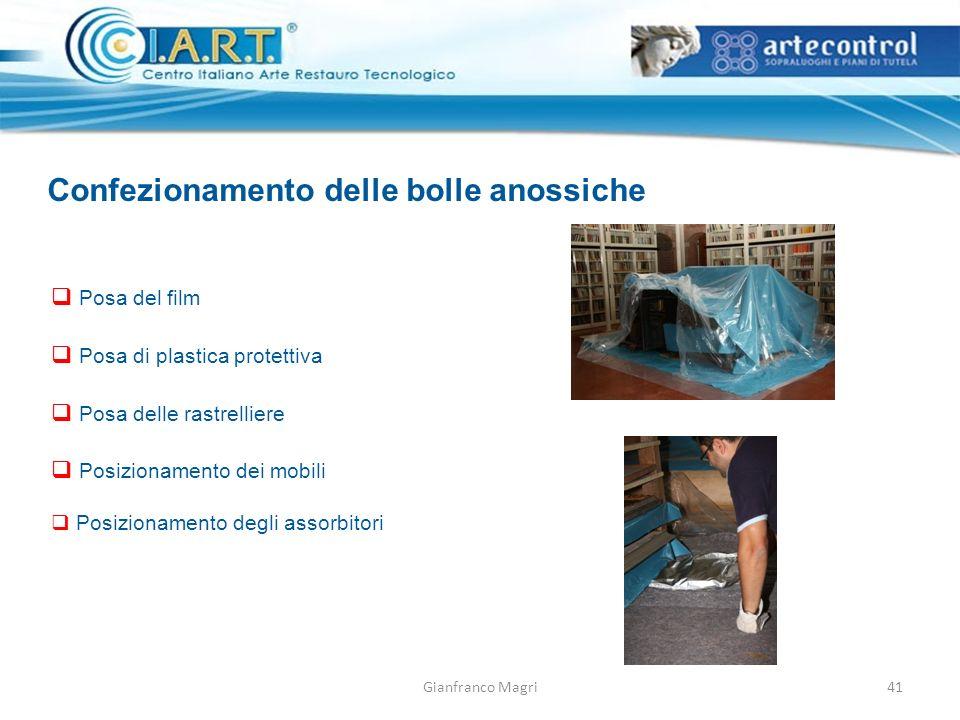 Confezionamento delle bolle anossiche