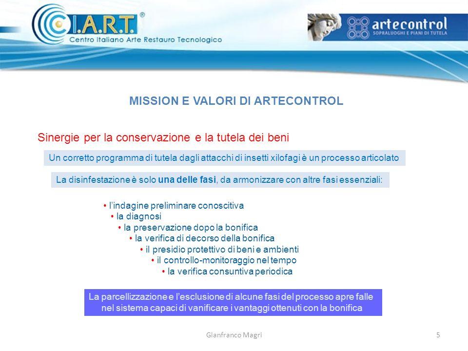 MISSION E VALORI DI ARTECONTROL