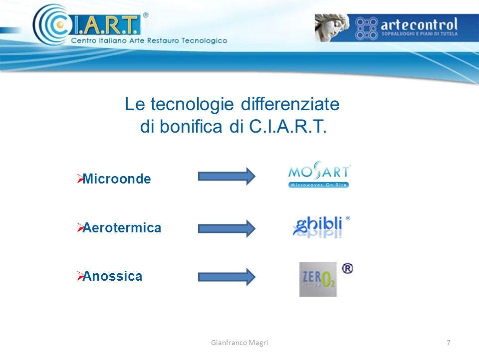 Le tecnologie differenziate di bonifica di C.I.A.R.T.