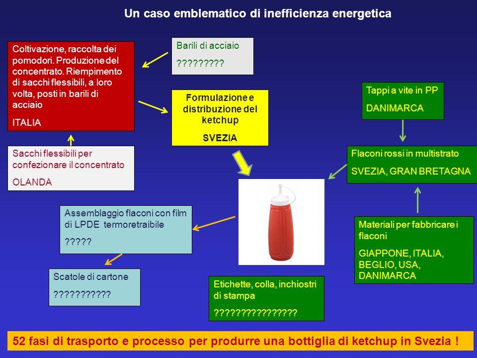 Formulazione e distribuzione del ketchup