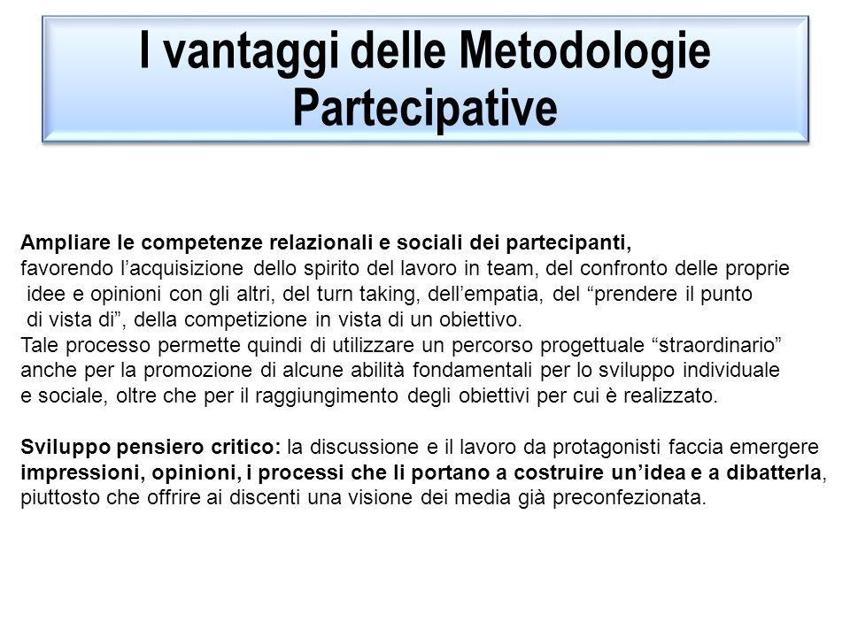 I vantaggi delle Metodologie Partecipative