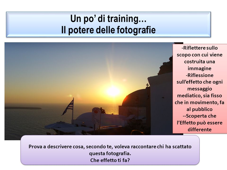Un po' di training… Il potere delle fotografie