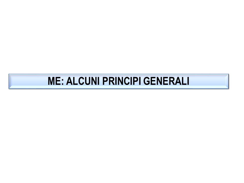 ME: ALCUNI PRINCIPI GENERALI