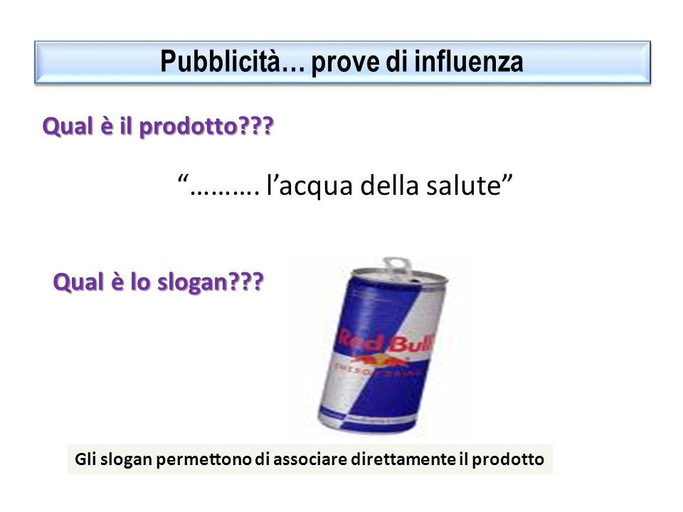 Pubblicità… prove di influenza