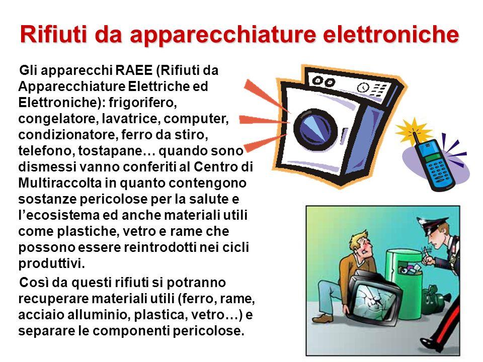 Rifiuti da apparecchiature elettroniche