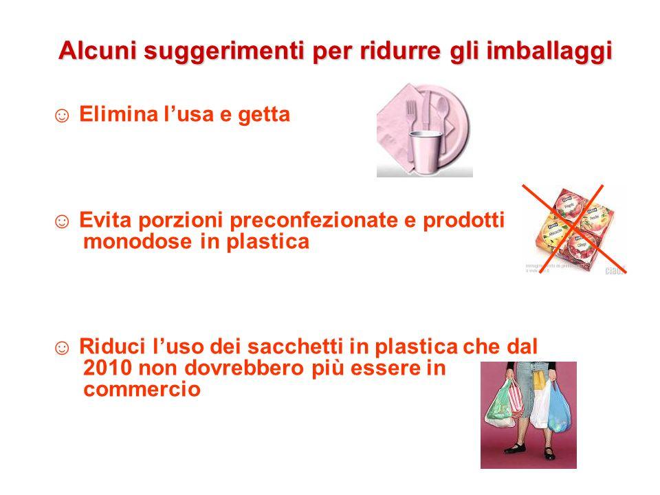 Alcuni suggerimenti per ridurre gli imballaggi