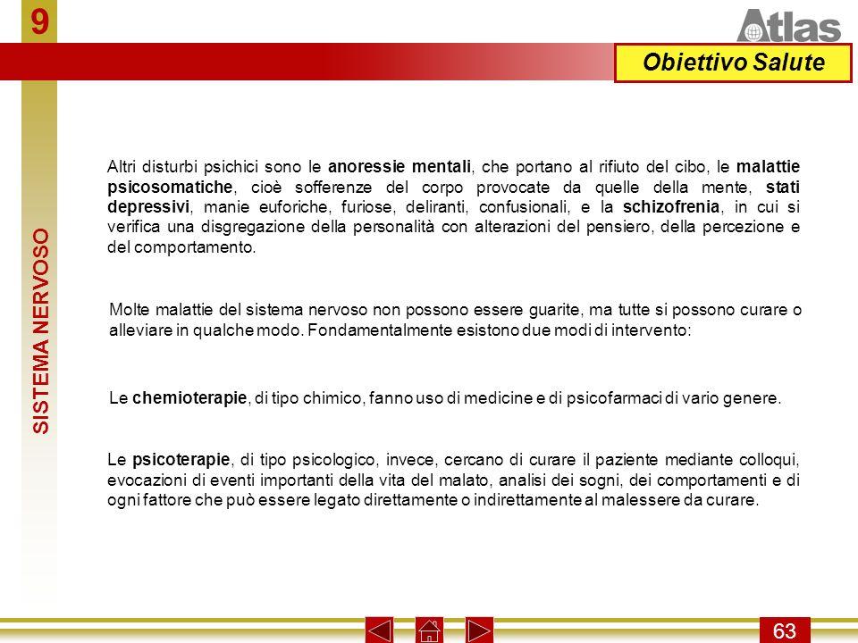 9 Obiettivo Salute SISTEMA NERVOSO 63