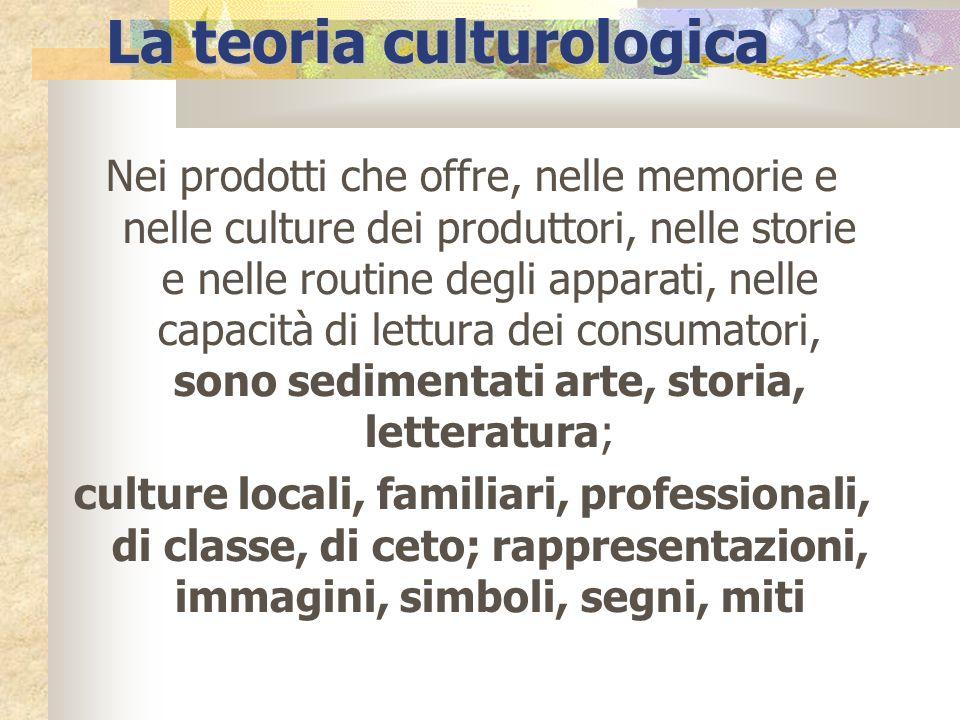 La teoria culturologica