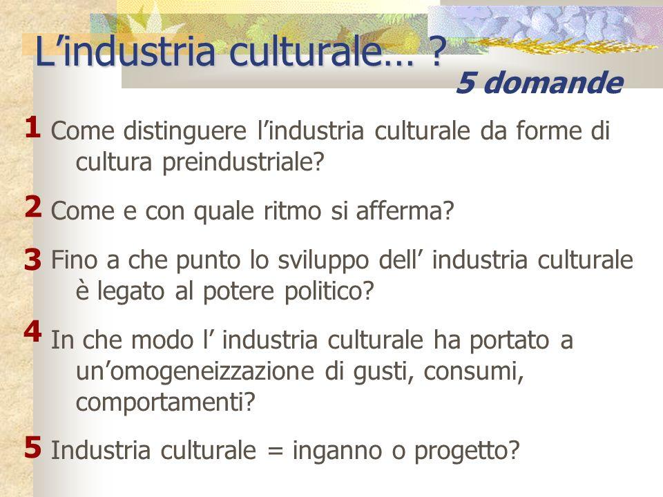 L'industria culturale…