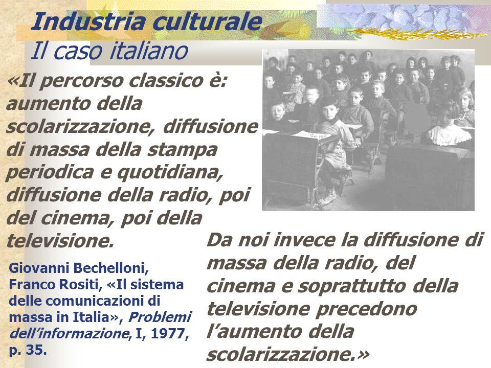 Industria culturale Il caso italiano