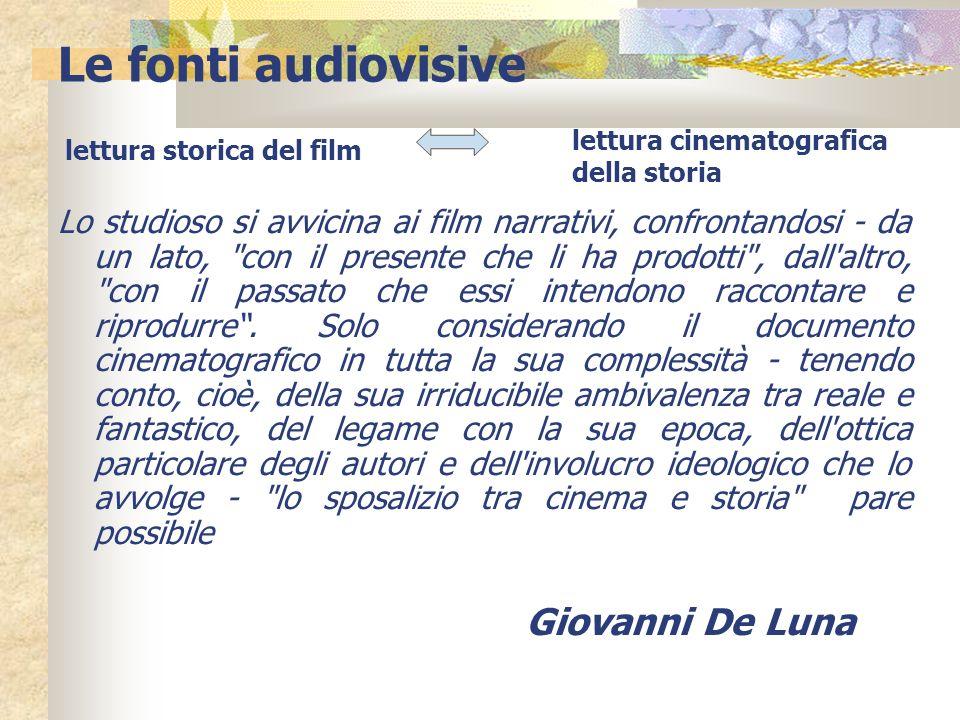 Le fonti audiovisive Giovanni De Luna