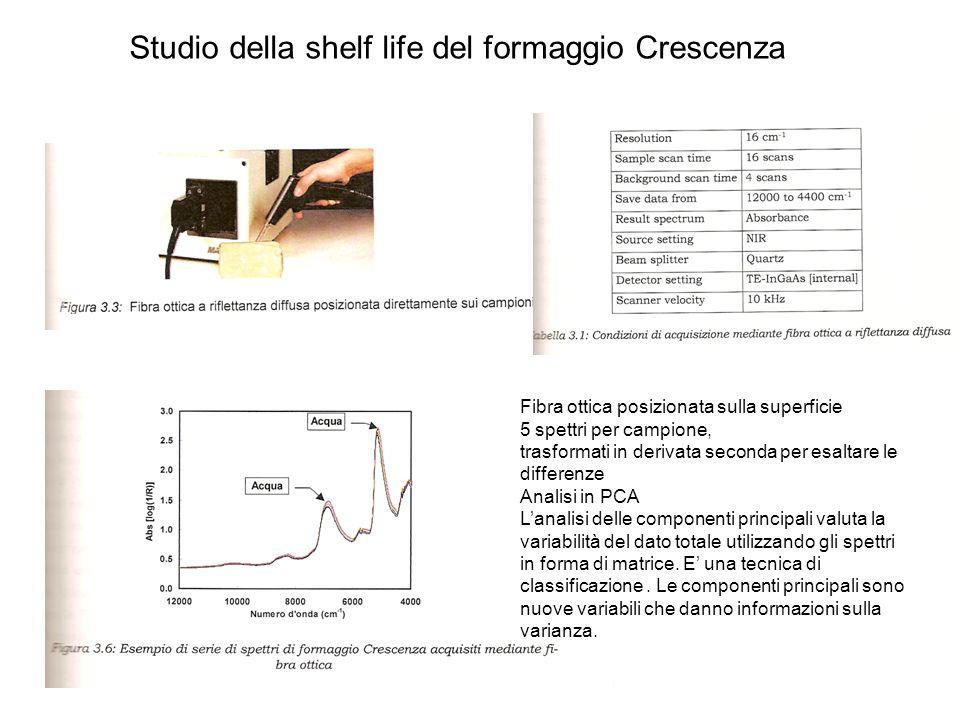 Studio della shelf life del formaggio Crescenza