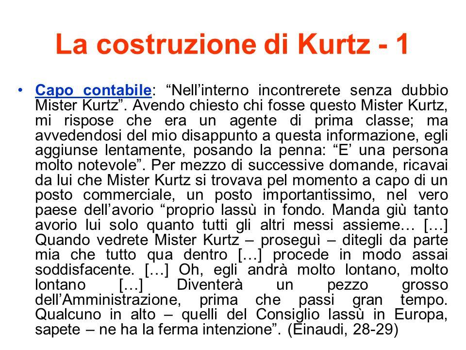 La costruzione di Kurtz - 1