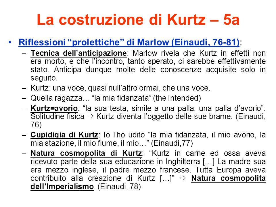 La costruzione di Kurtz – 5a