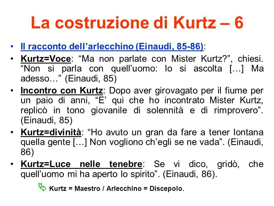 La costruzione di Kurtz – 6