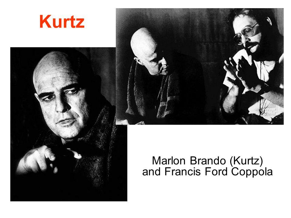Marlon Brando (Kurtz) and Francis Ford Coppola